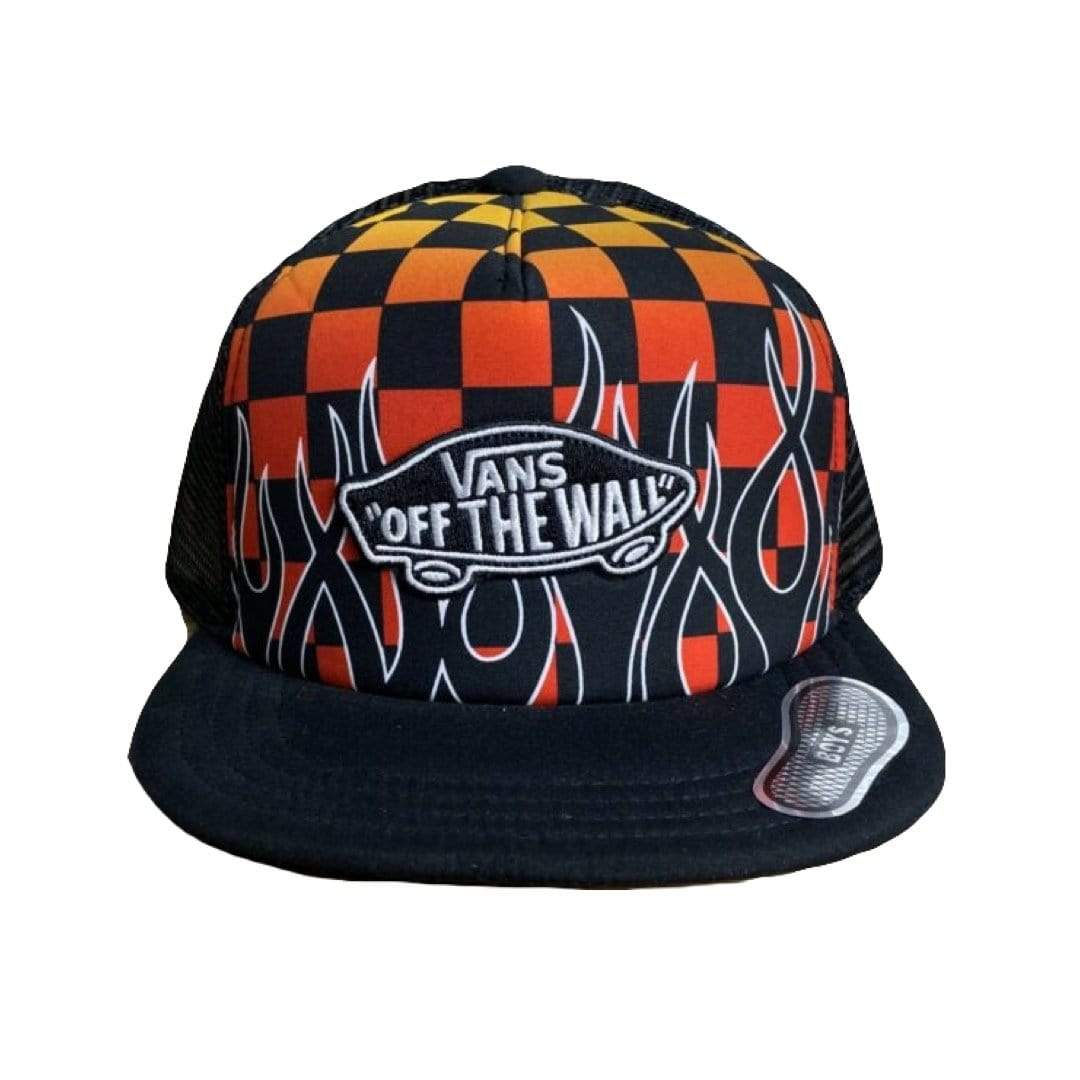 VN000XNTH31 - VANS - Classic Patch Snapback - Black/Flame (Kids 8+) Hats Vans