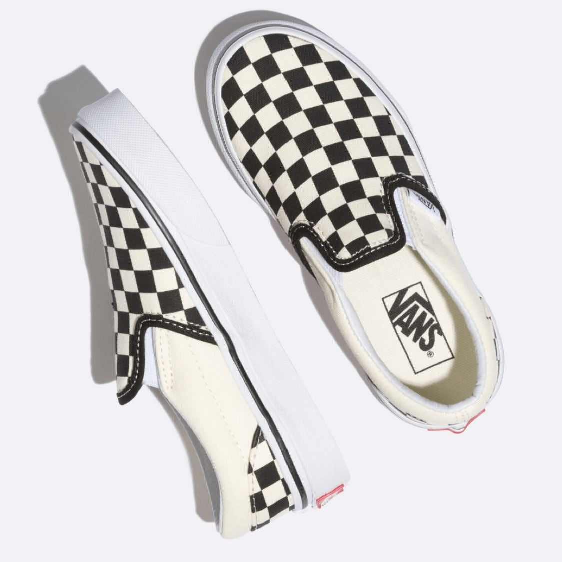 VN000ZBUE01 VANS - Classic Slip On Running Shoe - Black & White Checkerboard (Kids 10.5 - Youth 4) footwear Vans