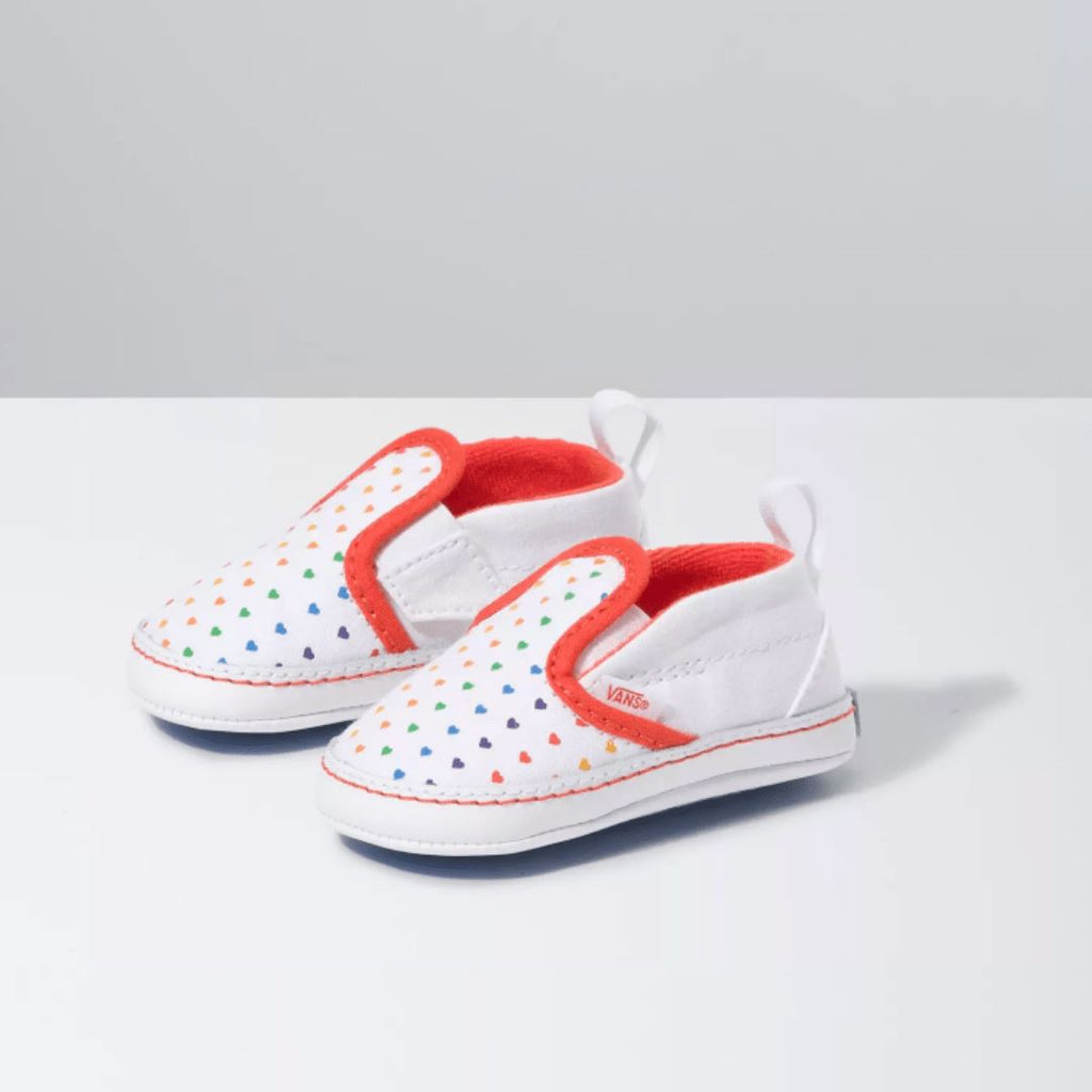VN0A2XSLW48 Vans - Infant Slip-On V Crib - Rainbow Heart (Infant 2 - Infant 4) footwear Vans 2