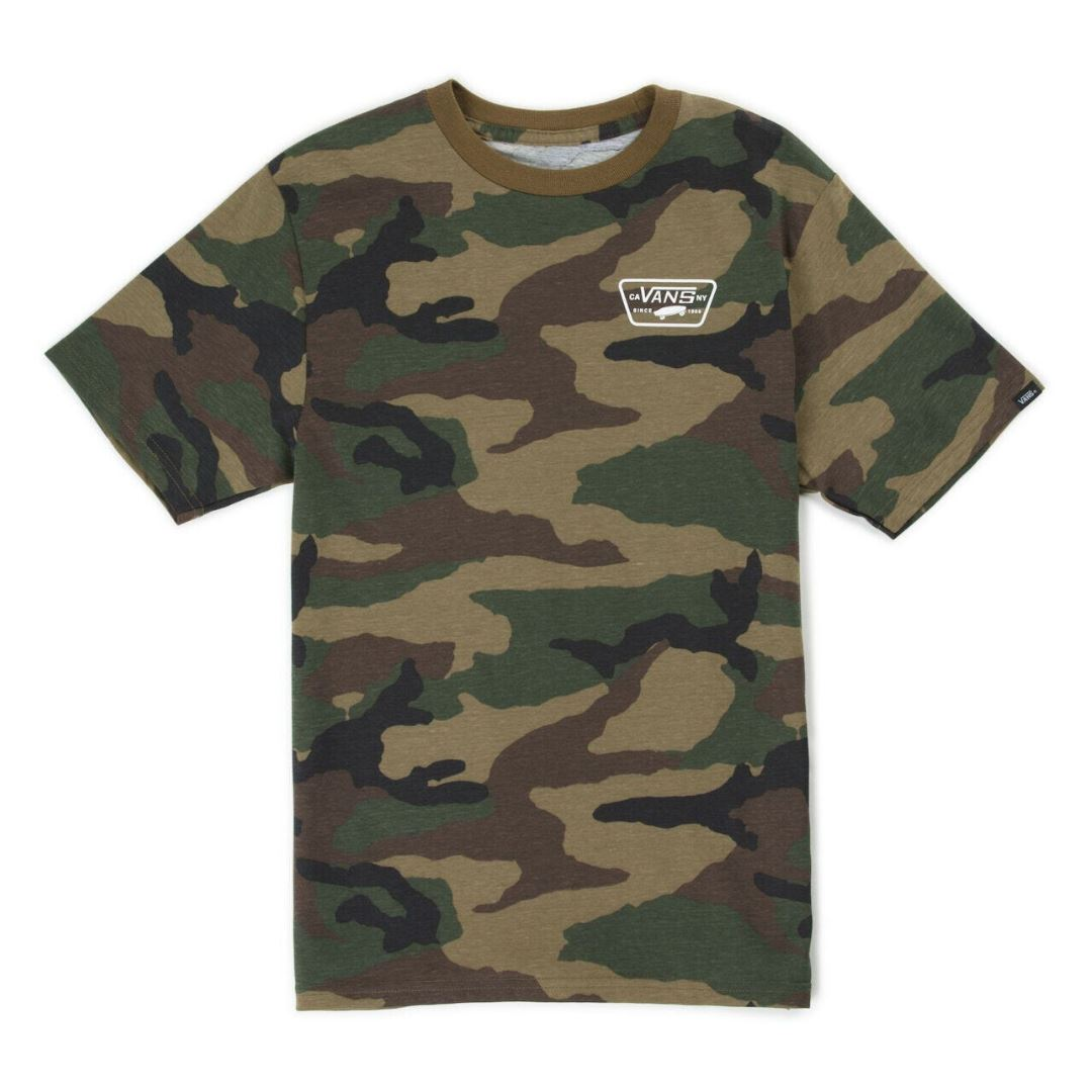 VN0A3HAKC9H - Vans - Full Patch Back Junior Boys (8-14 Years) - Camo Short Sleeve Shirts Vans