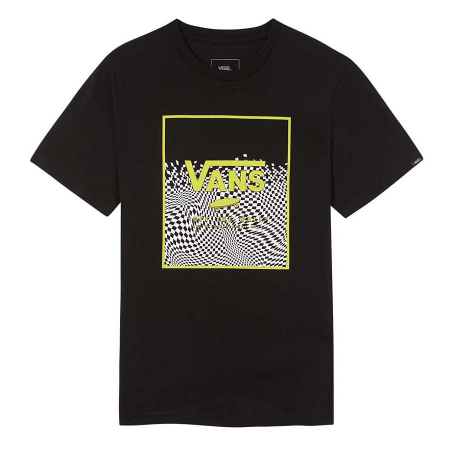 VN0A3HWJUVQ - VANS Boys Box Print T-Shirt - Warp Check Short Sleeve Shirts Vans