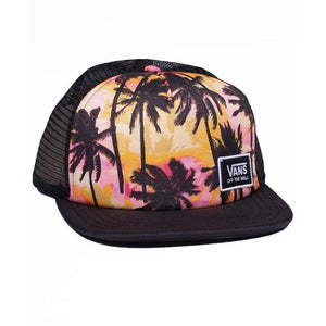 VN0A4DT7NID - VANS Beach Bound Trucker Hat - Sunset Palms Hats Vans