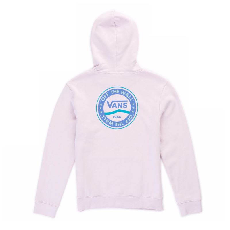 VN0A4DUJJVZ - VANS Junior Girls Side Stripe Hoodie - Lilac Snow Sweatshirt Vans