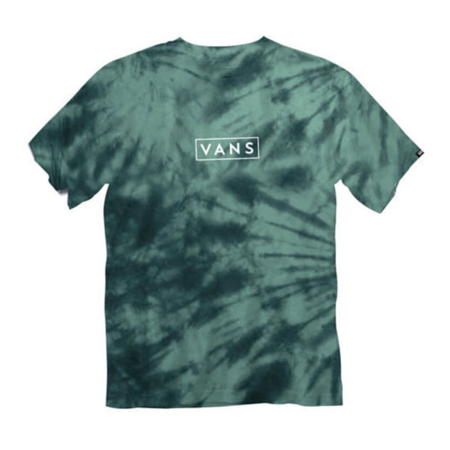VN0A4MNZSR7 - VANS Boys Tie Dye Easy Box Tee - Dusty Jade Short Sleeve Shirts Vans