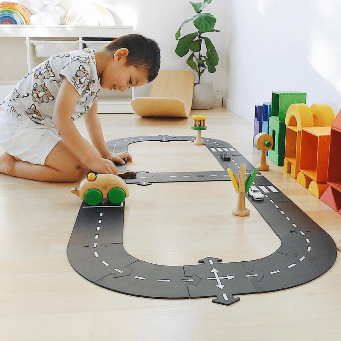 Way to Play - King of the Road Flexible Toy Road - 40 Piece Set Toys Way to Play