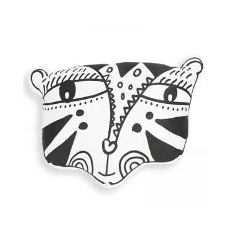 Wee Gallery - Nursery Friends Tiger Throw Pillow Cushion Wee Gallery
