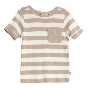 Wheat Kids - Hubert T-Shirt - Melange Sand Short Sleeve Shirt Wheat Kids 3 Years Melange Sand
