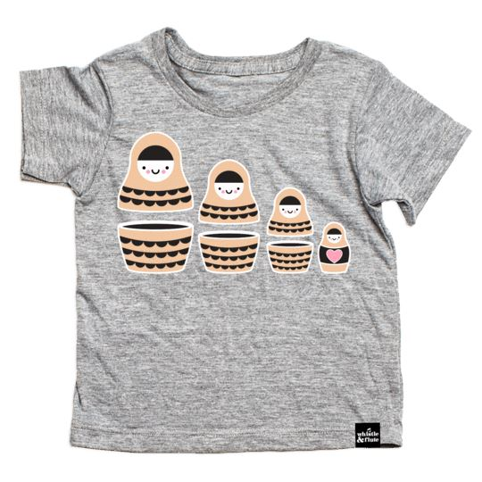 Whistle & Flute - Kawaii Russian Doll T-Shirt Short Sleeve Shirt Whistle & Flute