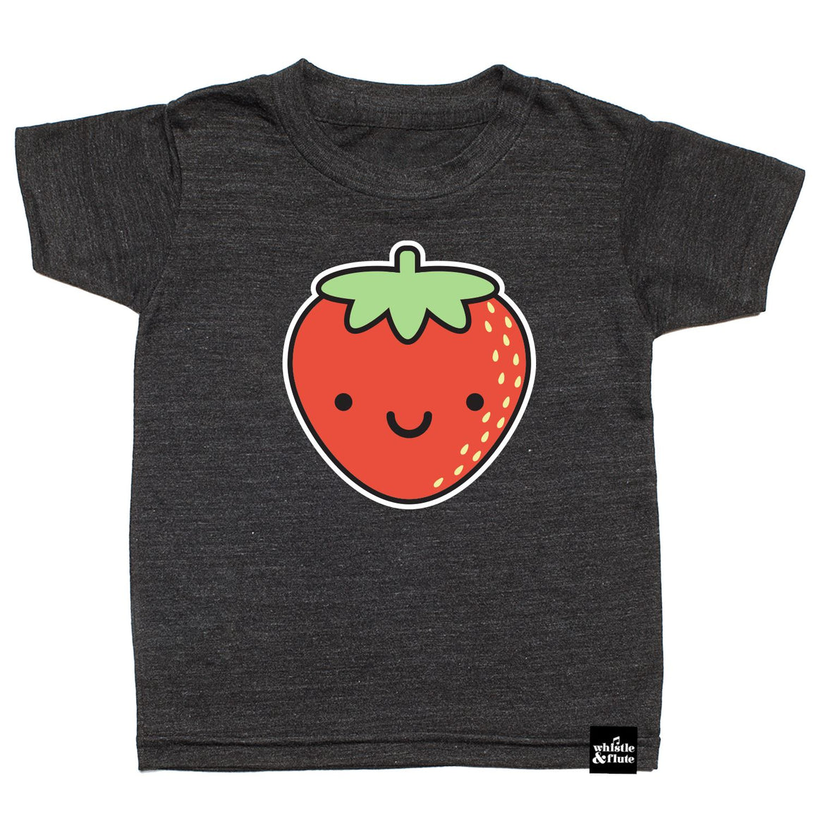 Whistle & Flute - Kawaii Strawberry T-Shirt Short Sleeve Shirts Whistle & Flute