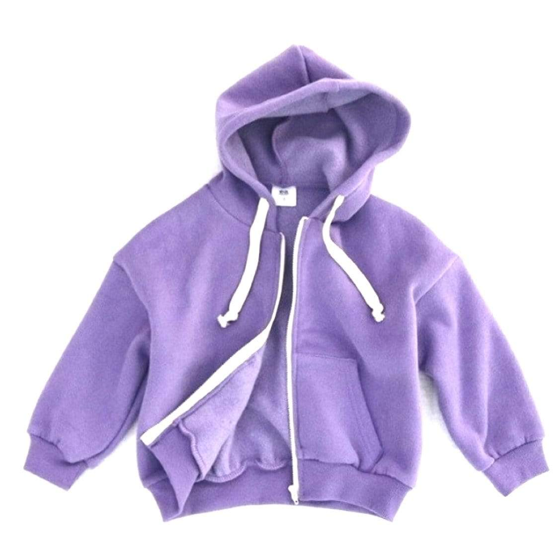 White Sketch Book - Violet Zip Up Hooded Sweatshirt Sweatshirt White Sketch Book