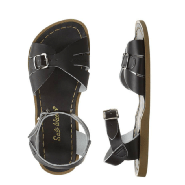Womens Adult Classic Saltwater Sandals - Black Sandals Salt Water Sandals