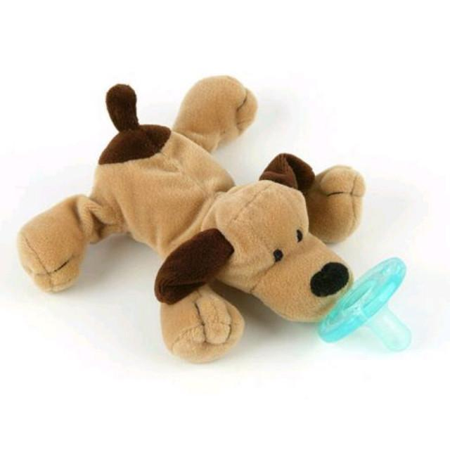 WubbaNub Classic Collection - Infant Pacifier Brown Puppy Pacifier WubbaNub