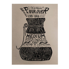 Chemex Pour Over plakat fra Department of Brewology - Kaffeteriet