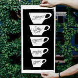Kaffekopper plakat fra Department of Brewology - Kaffeteriet