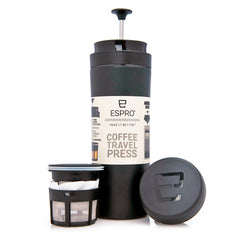 Espro Travel Press, sort - 0,3 til 0,45 l - Kaffeteriet