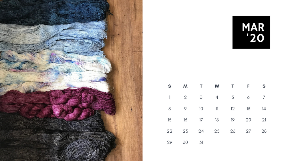 Free Downloadable Calendar - March 2020