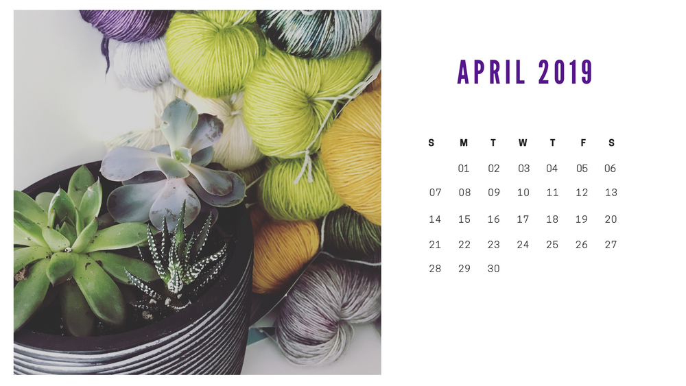 Free Downloadable Calendar April 2019