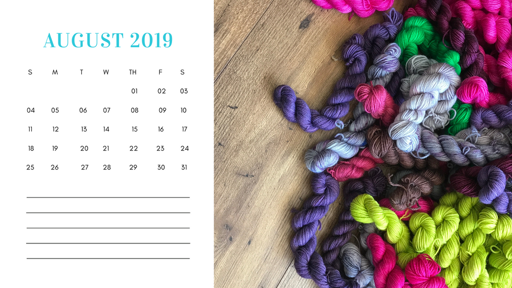 Free Downloadable Calendar August 2019