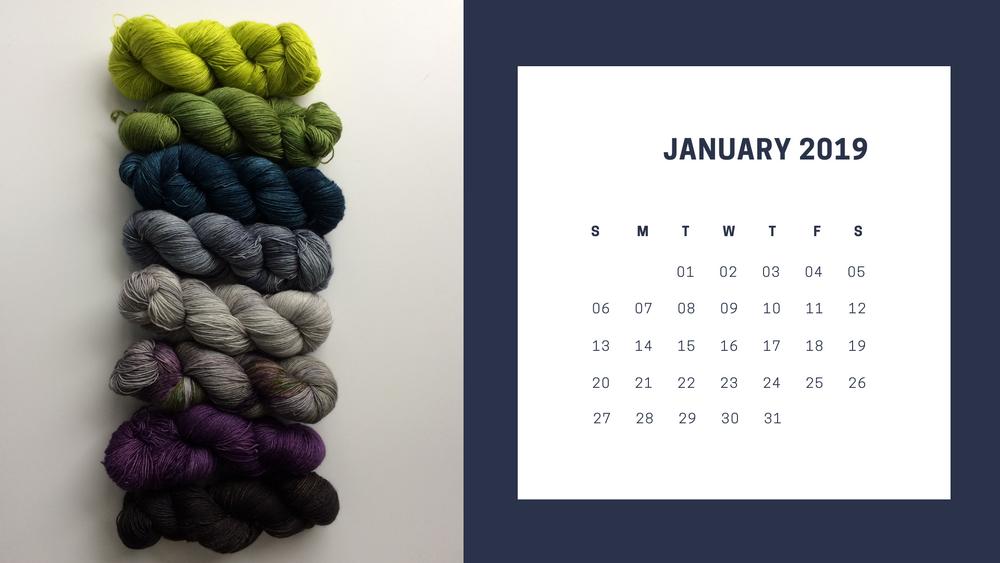 Free Downloadable January 2019 Calendar