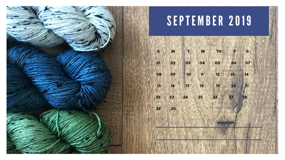 Free Downloadable Calendar - September 2019
