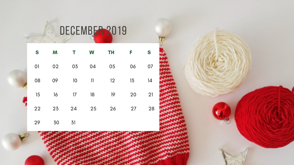 Free Downloadable Calendar - December 2019