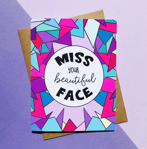 Cute Miss you Card - Social Distancing Quarantine Card