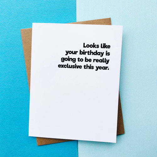 Social Distancing Birthday Card - Quarantine Birthday