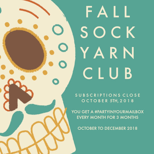 SOCK YARN CLUB - Fall 2018 - Red Sock Blue Sock Yarn Co