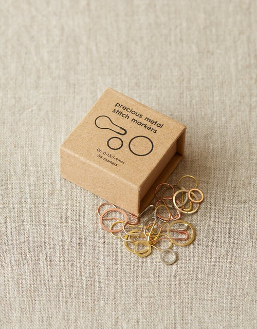 COCO Knits Precious Metal Stitch Markers - Red Sock Blue Sock Yarn Co