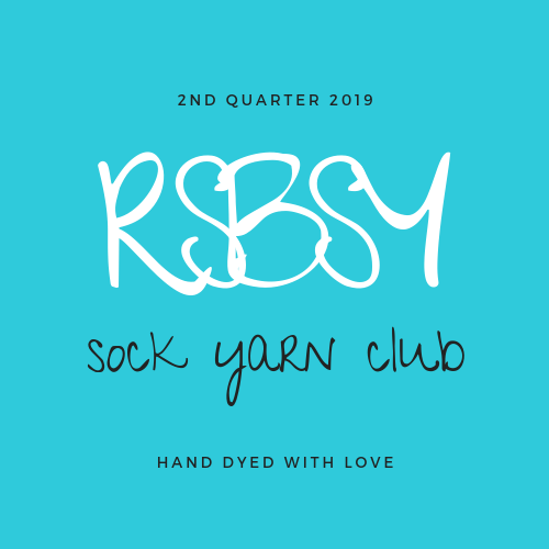 SOCK YARN CLUB - 2nd Quarter 2019 - Red Sock Blue Sock Yarn Co
