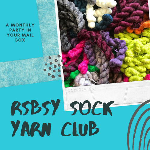 RSBSY SOCK YARN CLUB - a monthly party in your mail box - Red Sock Blue Sock Yarn Co