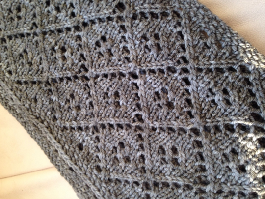 Diamond Lace Cowl // PDF Knitting Pattern