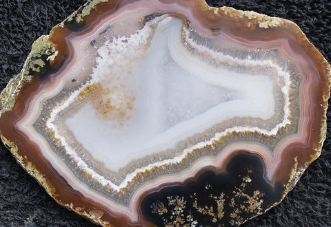 Brazilian Agate Polished Rock slab 011