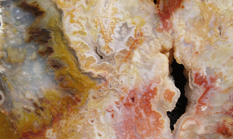 Graveyard Point Plume Agate Rock slab 26