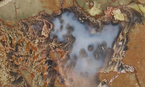 Priday Plume Agate  Rock slab 62