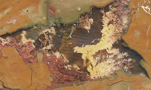 Priday Plume Agate  Rock slab 68