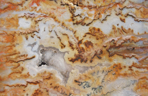 Graveyard Point Plume Agate Rock slab 01
