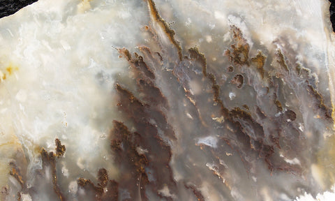 Graveyard Point Plume Agate Rock slab 24