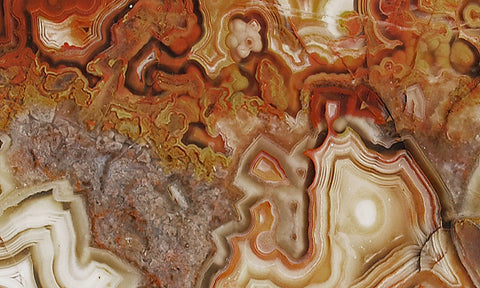 Laguna Lace Agate Rock slab 38