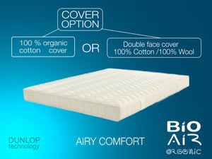 Natural Latex Mattress: BIO AIR ORGANIC-100% Solid NATURAL Latex H-20