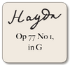 Haydn Op. 77 No. 1 in G