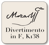 BREVE Mozart:  Divertimento for String Quartet in F, K138
