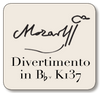 Mozart Divertimento for String Quartet in B-flat, K137
