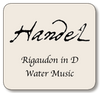 Handel Rigaudon in G,  Water Music, For violin and cello