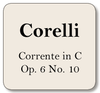 Corelli Corrente in C, Op. 6 No. 10,  For violin and cello