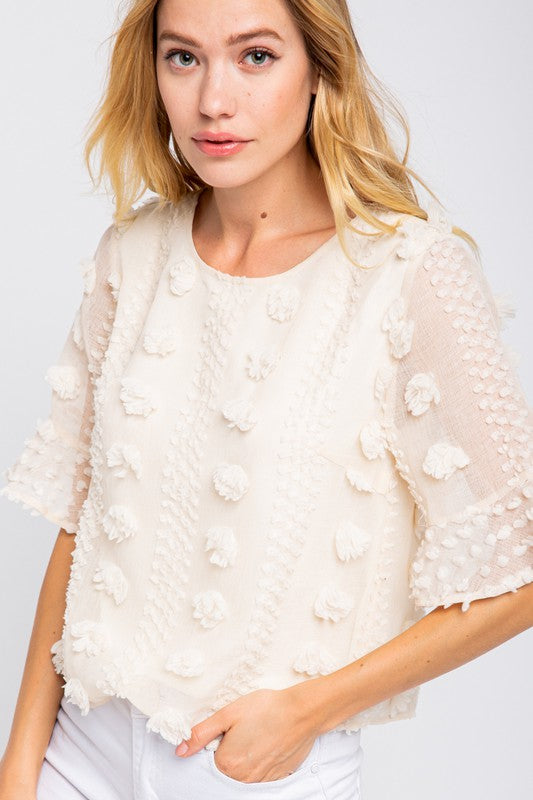 Blooming Floral Embellished Blouse