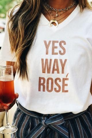 Pink Liberty Yes Way Rosé Graphic T-Shirt