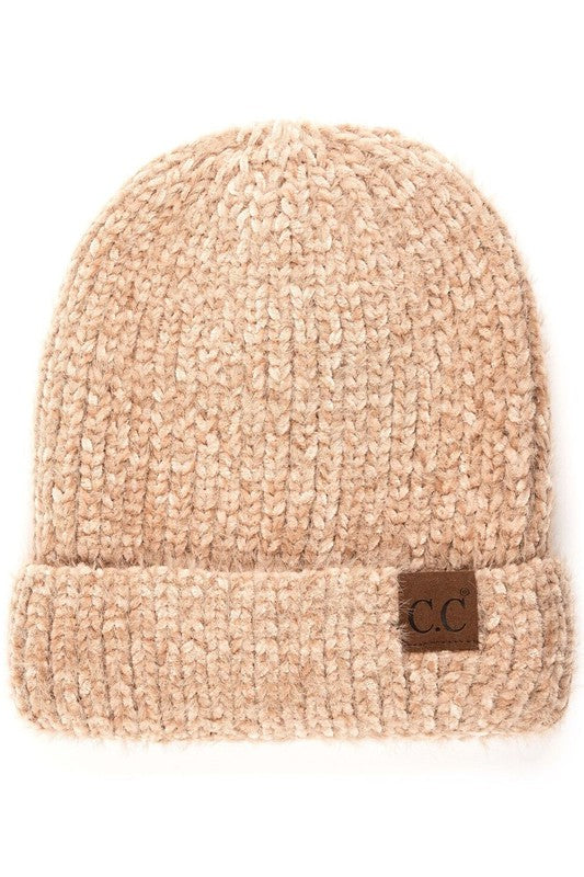 Pink Liberty Warm N Toasty Fuzzy Chenille Knit Beanie Toque