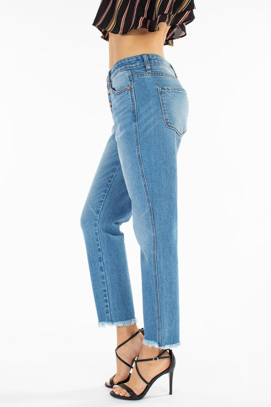 All Day Everyday High Rise Button-Fly Boyfriend Jeans