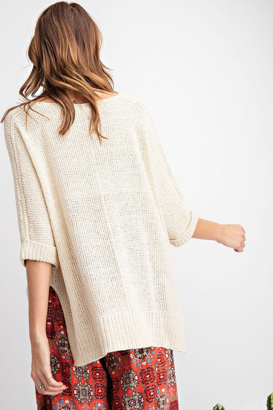 It's a Breeze High-Low Sweater Knit Top